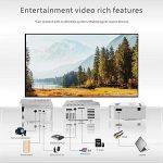Kobwa Mini Vidéoprojecteur,Portable Projecteur Support 1080p Multimédia Home Cinéma Vidéo Projecteur Connexion avec HDMI/AV/USB/SD Appareils de la marque Kobwa image 4 produit