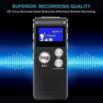 Kobwa Voice Recorder Multi Function Portable professionnel One toucher d'enregistrement USB rechargeable 8 Go HD Digital Audio Voice Recorder dictaphone MP3 Player pour interview Amphithéâtres Réunion salle de classe d'enregistrement de la marque Kobwa image 3 produit
