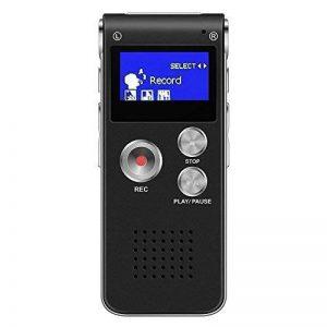 Kobwa Voice Recorder Multi Function Portable professionnel One toucher d'enregistrement USB rechargeable 8Go HD Digital Audio Voice Recorder dictaphone MP3Player pour interview Amphithéâtres Réunion salle de classe d'enregistrement de la marque Kobwa image 0 produit