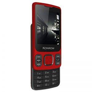 Konrow Téléphone coulissant GPRS (Ecran : 2,4 pouces - Double SIM - Android) Rouge de la marque Konrow image 0 produit