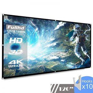 koogoo 120 Pouces 16: 9 HD Portable Projecteur Écran Pliable Mur Plafond Mont Intérieure Extérieure Écran de Projection (120 inch) de la marque Koogoo image 0 produit