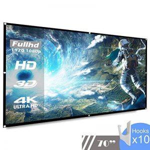koogoo 70 Pouces 16: 9 HD Portable Projecteur Écran Pliable Mur Plafond Mont Intérieure Extérieure Écran de Projection (70 inch) de la marque Koogoo image 0 produit