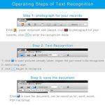 Koolertron Scanner de documents Professional avec OCR, Scanner portable pliable Lecteur de document USB Hauteur Réglable avec voyants à LED, balayage rapide de 8 méga pixels (Noir) de la marque Koolertron image 4 produit