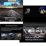 """L&HM 1080P Full HD 4.3"""" LCD Ecran Double Caméras de Voiture Avant et Arrière/170°Grand Angle Enregistreur de Voiture avec Retroviseur Anti-Eblouissement, Caméra de Recul Etanche, Vision Nocturne, Détection de Mouvement, Moniteur de Stationnement, Enregist image 3 produit"""
