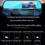 """L&HM 1080P Full HD 4.3"""" LCD Ecran Double Caméras de Voiture Avant et Arrière/170°Grand Angle Enregistreur de Voiture avec Retroviseur Anti-Eblouissement, Caméra de Recul Etanche, Vision Nocturne, Détection de Mouvement, Moniteur de Stationnement, Enregist image 1 produit"""