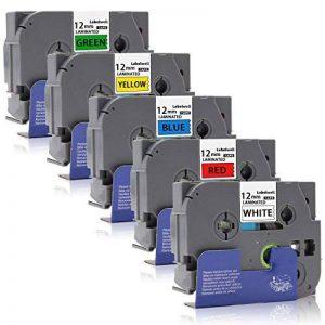 Labelwell 12mm Compatible Brother Tze-231 Tze-431 Tze-531 Tze-631 Tze-731 Rubans d'étiquettes, Cassette d'étiquette stratifiée adhésive standard pour Brother P-Touch GL-H100 PT H100LB H101C P700 E100 D600VP D400VP D400 D210E550WVP H75H100 E100VP H101TB image 0 produit