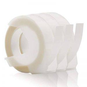 Labelwell 9mm x 3m Compatible pour Dymo 3D Rubans d'étiquettes de Gaufrage (Dymo 3D Embossing Label Tapes) Blanc sur Or /Gold - Paquet de 3 Ruban d'encre Auto-adhésif Compatible avec Dymo Organizer Xpress/Office-Mate II/Junior/Omega Étiqueteuse de la marq image 0 produit