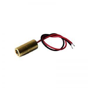 Laser linéaire, rouge, 650nm, 90°, 5mW, Ø9x20mm, Classe laser 1, Foyer fixé (1000mm), Longueur de câble 100mm - 70104011 de la marque Laserfuchs image 0 produit