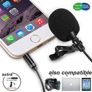 Lavalier Micro-cravate , Zaffiro microphone à Réduction de Bruit Mic avec condensateur omnidirectionnel pour iPhone, iPad, DSLR, caméscope, appareil photo, enregistreur, PC, Mobile Android de la marque ZAFFIRO image 0 produit