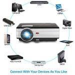 LCD HD projecteur Vidéo, 4000 Lumens WXGA Multimédia LED projecteur Home Cinema Theater 1080p Soutien HDMI USB extérieur de Divertissement Proyector pour Ordinateur iPhone Consoles de Jeux DVD de la marque EUG image 4 produit