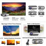 LCD HD projecteur Vidéo, 4000 Lumens WXGA Multimédia LED projecteur Home Cinema Theater 1080p Soutien HDMI USB extérieur de Divertissement Proyector pour Ordinateur iPhone Consoles de Jeux DVD de la marque EUG image 2 produit
