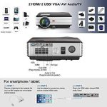 LCD HD projecteur Vidéo, 4000 Lumens WXGA Multimédia LED projecteur Home Cinema Theater 1080p Soutien HDMI USB extérieur de Divertissement Proyector pour Ordinateur iPhone Consoles de Jeux DVD de la marque EUG image 3 produit