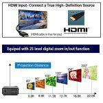 LCD Projecteur 1080 P Full HD 4200 Lumens WXGA, projecteurs Home Cinéma avec HDMI USB VGA AV Sortie Audio pour iPhone iPad PC Ordinateur Android Téléphone Tablet DVD TV(Manuel Anglais et UK Plug) de la marque CAIWEI image 3 produit