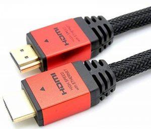 LCS - CALLISTO - 3M - Câble HDMI 1.4 - 2.0 - 2.0 a/b - Professionnel - 3D - Ultra HD 4K 2160p - Full HD 1080p - HDR - ARC - CEC - High Speed par Ethernet - Connecteurs plaqués or de la marque Link Cable Store image 0 produit