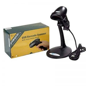 Lecteur Codes Barres USB Automatique Scanner Barcode Reader Laser Support Ajustable Noir de la marque Esky image 0 produit
