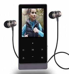 Lecteur de musique MP3Bluetooth 8Go Hi-Fi sans déperdition de son, avec fonctions radio FM et enregistreur vocal, boutons tactiles, capacité de prise en charge extensible jusqu'à 32Go (noir) de la marque Newiy Start image 0 produit
