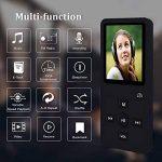 lecteur MP3avec Bluetooth, 8G Portable Lossless son lecteur de musique pour le sport, lecteur MP3/MP40,5m écran avec haut-parleur intégré/radio FM/enregistreur vocal, prise en charge jusqu'à 32Go extensible (Noir) de la marque Newiy Start image 3 produit