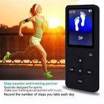 lecteur MP3avec Bluetooth, 8G Portable Lossless son lecteur de musique pour le sport, lecteur MP3/MP40,5m écran avec haut-parleur intégré/radio FM/enregistreur vocal, prise en charge jusqu'à 32Go extensible (Noir) de la marque Newiy Start image 4 produit