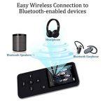 lecteur MP3avec Bluetooth, 8G Portable Lossless son lecteur de musique pour le sport, lecteur MP3/MP40,5m écran avec haut-parleur intégré/radio FM/enregistreur vocal, prise en charge jusqu'à 32Go extensible (Noir) de la marque Newiy Start image 1 produit