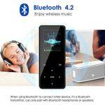 Lecteur MP3 Bluetooth Qoosea 16 Go Portable Hi-Fi sans perte des lecteurs de musique avec casque Vidéo E-Book Lecteur de musique audio numérique avec Touch et FM Radio / Enregistreur vocal Support extensible Max jusqu'à 128G TF Carte de la marque Qoosea image 1 produit