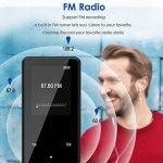 Lecteur MP3 Bluetooth Qoosea 16 Go Portable Hi-Fi sans perte des lecteurs de musique avec casque Vidéo E-Book Lecteur de musique audio numérique avec Touch et FM Radio / Enregistreur vocal Support extensible Max jusqu'à 128G TF Carte de la marque Qoosea image 3 produit