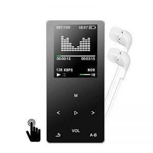 Lecteur MP3 MP4, GotechoD baladeur MP3 8 G avec Boutons tactiles, Lecteur de Musique,autonomie DE 80 Heures,Radio FM,vidéo,e-Book mémoire Extensible jusqu'à 128 Go avec Carte SD de la marque GotechoD image 0 produit