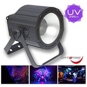 LED UV Cannon 100W, Projecteur LED UV Haute Performance pour grandes surfaces, commande DMX, flickerfreier aussi pour enregistrements vidéo, Meilleurs Résultats de lumière noire d'Exploitation, High Power Version professionnelle de la marque SATISFIRE image 0 produit