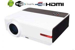 Led Videoprojecteur WIFI FULL HD 3D Home Cinema 1080p originaire Wifi Home Cinéma Video Projecteur 5000 Lumen 1920x1080 Résolution HDMI USB VGA pour petite salle d'enseignement Présentation de jeu portable avec système Android de la marque FR BRAND image 0 produit