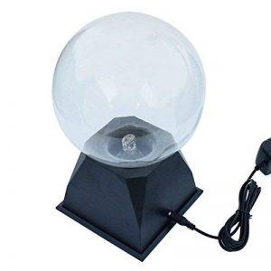 LEDMOMO Lampe Boule Sensible a Plasma Magique Tactile Sphère Globe de Foudre Nouveauté Jouet pour Enfants avec EU Plug Bleu Lumière 8 Pouces de la marque LEDMOMO image 0 produit