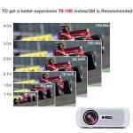 LESHP Mini Projecteur LCD 1600 Lumens, 1080P Full HD Vidéoprojecteur Portable, Home Cinéma pour Multimédia Divertissement Vidéos, Films, Jeux, Support HDMI / VGA / USB / AV / TV de la marque Cozime image 3 produit