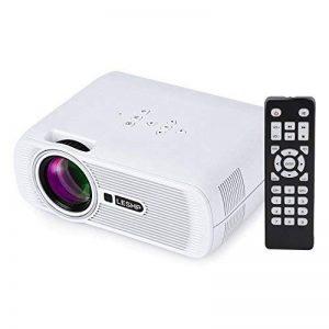 LESHP Mini Projecteur LCD 1600 Lumens, 1080P Full HD Vidéoprojecteur Portable, Home Cinéma pour Multimédia Divertissement Vidéos, Films, Jeux, Support HDMI / VGA / USB / AV / TV de la marque Cozime image 0 produit