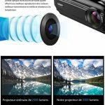 LESHP Vidéoprojecteur HD 1080P Android 6.0 WiFi Bluetooth 4.0 1 G + 8 G 3200 Lumens WIFI Connexion sans Fil pour Jeux en Ligne/ Surfer sur Internet/Home Cinéma de la marque LESHP image 3 produit