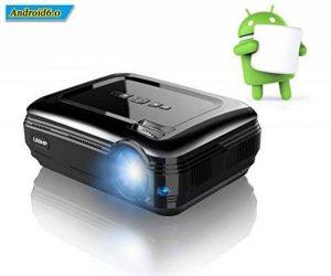 LESHP Vidéoprojecteur HD 1080P Android 6.0 WiFi Bluetooth 4.0 1 G + 8 G 3200 Lumens WIFI Connexion sans Fil pour Jeux en Ligne/ Surfer sur Internet/Home Cinéma de la marque LESHP image 0 produit