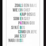 'Like a Boss' - Typographie Imprimer de la marque The Word Association image 1 produit