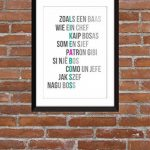 'Like a Boss' - Typographie Imprimer de la marque The Word Association image 2 produit