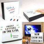 Litovative 3 en 1 Boîte à lumière A4 | Cinematic Light Box | Lettres cinématographiques | Dessin, écriture manuscrite, croquis | Slide Projector comprend 5 diapositives artistiques pour les célébrations | USB ou batterie | Marqueurs et lingette inclus. de image 2 produit