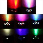 Lixada 15W 4PCS DMX512 RGBW Projecteur Led Éclairage de scène Lampe de Scène AC 100-240V PAR Light Strobe Professionnel 8 canaux Commande Vocale automatique Noël Party Disco Show de la marque Lixada image 1 produit