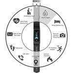 LJXAN Activité Fitness Tracker Bluetooth Continu Fréquence Cardiaque Pression Artérielle Suivi Étape Calorie Calcul De La Glycémie Veille Bracelet Smart,Black de la marque LJXAN image 2 produit