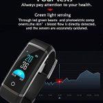 LJXAN Activité Fitness Tracker Bluetooth Continu Fréquence Cardiaque Pression Artérielle Suivi Étape Calorie Calcul De La Glycémie Veille Bracelet Smart,Black de la marque LJXAN image 4 produit