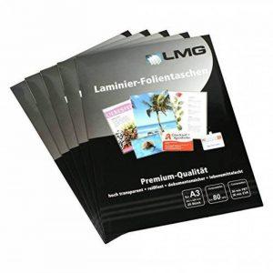 LMG lmga3–80–25pochettes de plastification A3, 303x 426mm, 2x 80microns, lot de 25 de la marque LMG image 0 produit