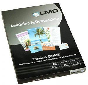 LMG lmga3–80plastifier A3, 303x 426mm, 2x 80microns, lot de 100 de la marque LMG image 0 produit