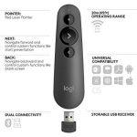 Logitech R500 Télécommande de Présentation Laser USB - Compatibilité Universelle, Portée DE 20 m, Personnalisable, Batterie Intelligente avec Une autonomie DE 12 Mois - Noir de la marque Logitech image 4 produit