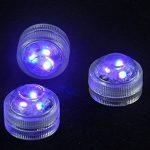 Lot de 10bougies à LED à changement de couleur, étanche sous l'eau submersible sans flamme à piles Bougies à LED pour fête de mariage Barre de vase Décoration lumière d'ambiance de la marque H.W image 3 produit