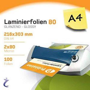 Lot de 100DIN A4Pochettes de plastification 303x 216mm, 2x 80microns Brillant Printation Premium plastifier de la marque Printation image 0 produit
