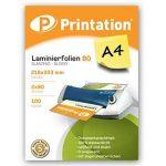 Lot de 100DIN A4Pochettes de plastification 303x 216mm, 2x 80microns Brillant Printation Premium plastifier de la marque Printation image 1 produit