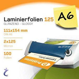 Lot de 100DIN A6poches plastification, 2x 125microns 111x 154mm, brillant Printation Premium plastifier de la marque Printation image 0 produit