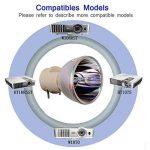 Loutoc 5J.J7L05.001/5j.j9h05.001/5J. Jee05.001Vidéoprojecteur Bare Ampoule Lampe pour BenQ W1070W1070+ W1080ST W1080ST + W1110W2000W1210st W1300W1400Ampoule Lampe de Remplacement de la marque LOUTOC image 4 produit