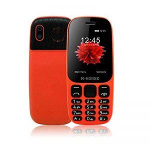 M-Horse B2000 Téléphones Portables à Grosses Touches 2.4'' GSM Super Haut-Parleur 2000mAh Grosse Batterie Dual SIM Double Veille Radio FM Appareil Photo Numérique Enregistreur Vocal Voix Joueur de la marque M-HORSE image 0 produit