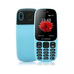 M-Horse B2000 Téléphones Portables à Grosses Touches 2.4'' GSM Super Haut-Parleur 2000mAh Grosse Batterie Dual SIM Double Veille Radio FM Appareil Photo Numérique Enregistreur Vocal Voix Joueur -Bleu de la marque M-HORSE image 0 produit