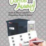 Mabels Labels Write Away! Etiquettes Scanner/Stocker Transparent 18 Pièces de la marque Mabel's Labels image 2 produit